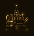 Hand sketched Seasons Greetings logotype badge and vector image vector image