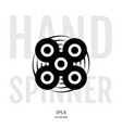 hand spinner or fidget icon vector image vector image