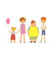 happy children - cartoon people characters vector image vector image