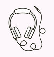 hearphones music sound isolated vector image vector image