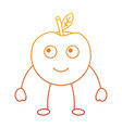 kawaii cute apple funny fruit vector image vector image