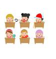 kids in classroom child in classroom vector image vector image