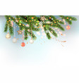 light christmas template with balls vector image vector image
