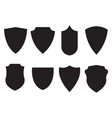medieval shield set black icons vector image