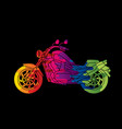 motorbike side view abstract graphic vector image
