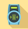 nfc payment device icon flat style vector image vector image
