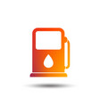 petrol or gas station icon car fuel sign vector image