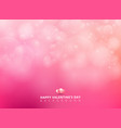 pink background with bokeh blurred soft and light vector image