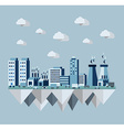 Pollution city flat concept vector image