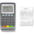 POS terminal and sales printed receipt vector image
