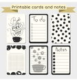Printable journaling cards Stylish to do list vector image