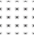 seamless pattern with spiders vector image vector image