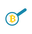search bitcoin loop and cryptocurrency virtual vector image