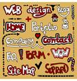 Set of hand draw lettering web design element vector image vector image