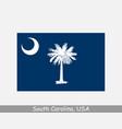 south carolina usa state flag sc usa vector image vector image
