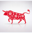 stylized bull symbol with a pattern vector image