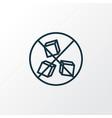 sugar free icon line symbol premium quality vector image