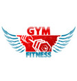 symbol of gym and fitness vector image vector image
