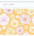 warm day flowers horizontal decor torn seamless vector image vector image