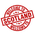 welcome to scotland red stamp vector image vector image