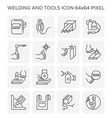 welding tools icon vector image vector image