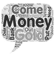 Where Does Money Come From text background vector image vector image