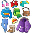 winter apparel collection 1 vector image