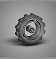 big gray gear vector image