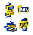 Set of origami labels vector image