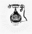 vintage telephone drawing vector image