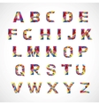 Creative colorful alphabet set vector image