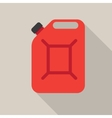 Metal canister of gasoline vector image
