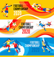 2020 world cup composition vector image