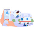 ambulance doctor help injured patient flat vector image vector image