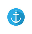 anchor icon marine anchor vector image vector image