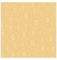 beige background with dollars - seamless pattern vector image