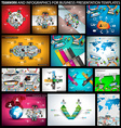 big set flat style design concepts for business vector image vector image
