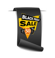black friday sale paper banner vector image vector image