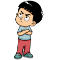 Boy angry vector image vector image
