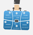 briefcase infographic with businessman bag vector image