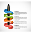 Business infographic design template Colored ink vector image vector image