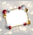 christmas background with baubles and blank space vector image vector image