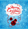 christmas banner with red baubles vector image