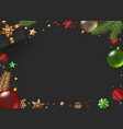 christmas composition top view copy space for a vector image