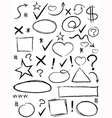 collection of scribble design element vector image vector image