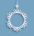 cutout paper frame christmas decoration vector image vector image