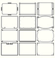 decorative simple frames set 16 vector image vector image