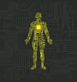 digital human security pattern vector image