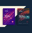 electro music festival poster with gradient line vector image vector image