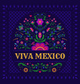festive mexican banner card with floral vector image vector image